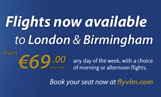 Flights now available to London and Birmingham from €69 one way