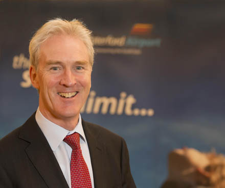Image of Desmond O'Flynn new CEO at Waterford Airport